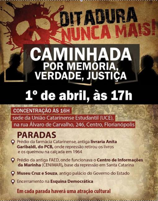 Cartaz Manifestação
